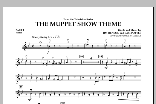 The Muppet Show Theme - Pt.1 - Violin Sheet Music