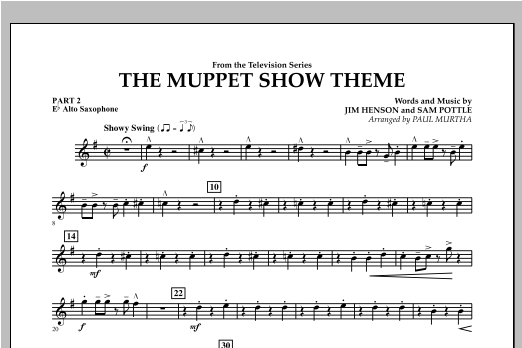 The Muppet Show Theme - Pt.2 - Eb Alto Saxophone Sheet Music