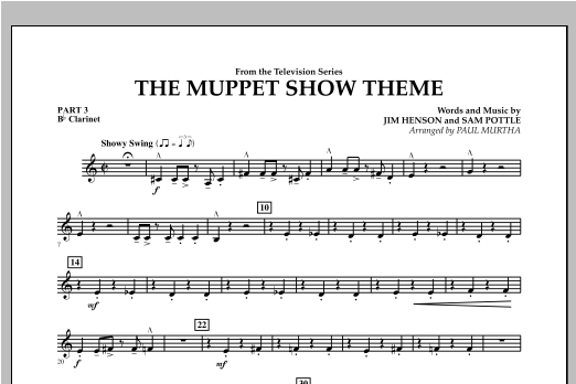 The Muppet Show Theme - Pt.3 - Bb Clarinet Sheet Music