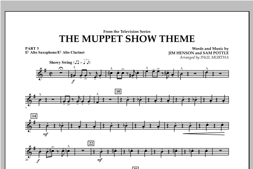 The Muppet Show Theme - Pt.3 - Eb Alto Sax/Alto Clar. Sheet Music