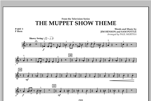 The Muppet Show Theme - Pt.3 - F Horn Sheet Music