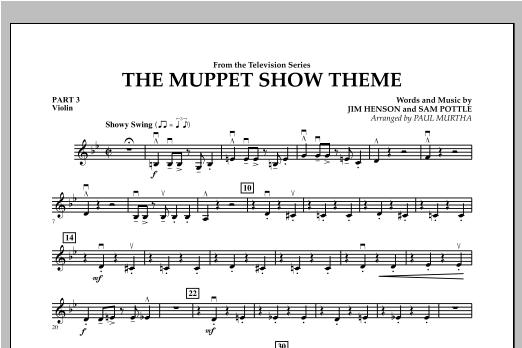 The Muppet Show Theme - Pt.3 - Violin Sheet Music