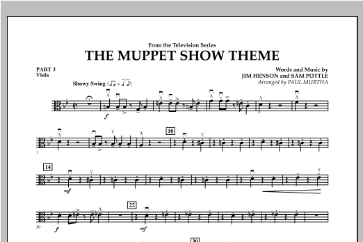 The Muppet Show Theme - Pt.3 - Viola Sheet Music