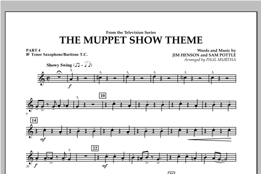 The Muppet Show Theme - Pt.4 - Bb Tenor Sax/Bar. T.C. Sheet Music