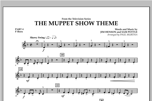 The Muppet Show Theme - Pt.4 - F Horn Sheet Music