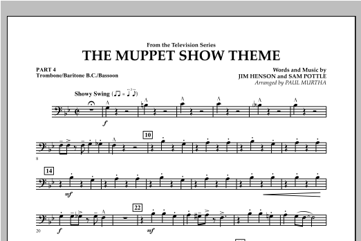 The Muppet Show Theme - Pt.4 - Trombone/Bar. B.C./Bsn. Sheet Music