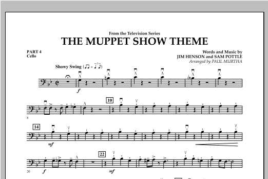 The Muppet Show Theme - Pt.4 - Cello Sheet Music