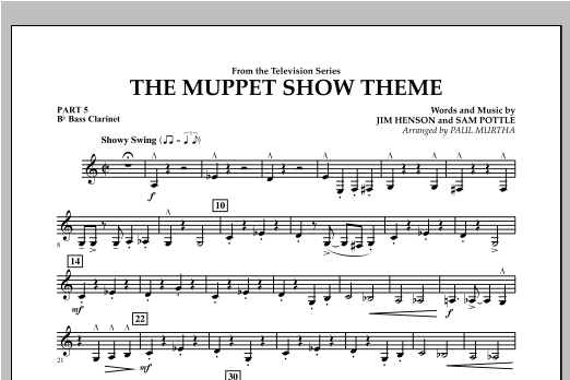 The Muppet Show Theme - Pt.5 - Bb Bass Clarinet Sheet Music
