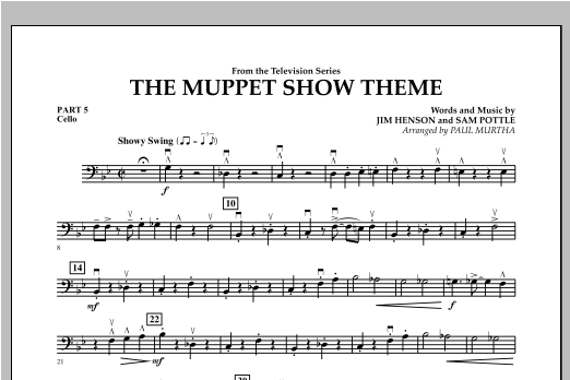 The Muppet Show Theme - Pt.5 - Cello Sheet Music