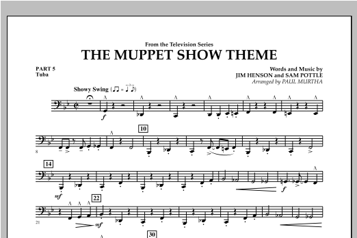 The Muppet Show Theme - Pt.5 - Tuba Sheet Music