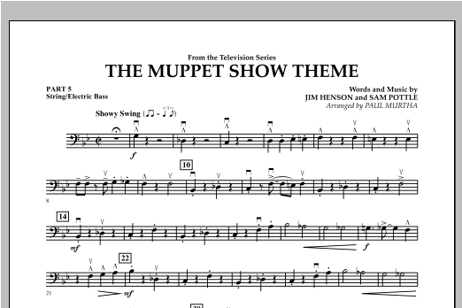 The Muppet Show Theme - Pt.5 - String/Electric Bass Sheet Music