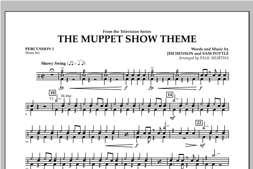 The Muppet Show Theme - Percussion 1 Sheet Music