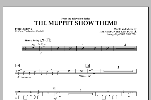 The Muppet Show Theme - Percussion 2 Sheet Music
