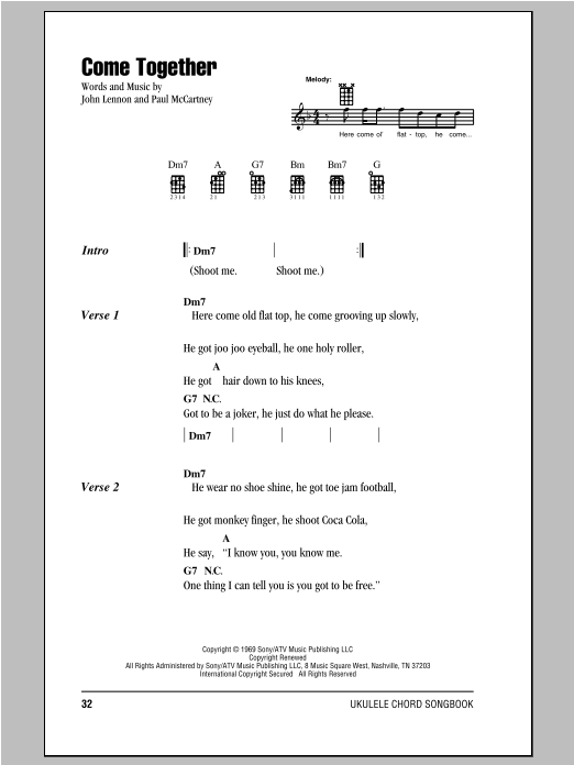 Come Together | Sheet Music Direct