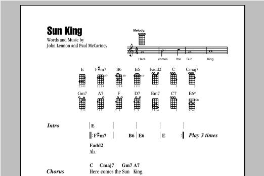 Sun King (Ukulele Chords/Lyrics)