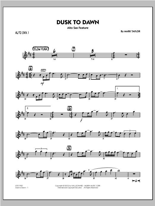 Dusk To Dawn (Solo Alto Sax Feature) - Alto Sax 1 Sheet Music