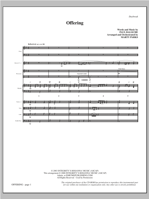 Offering - Full Score Sheet Music