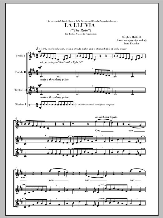 La Lluvia (The Rain) (SSA Choir)
