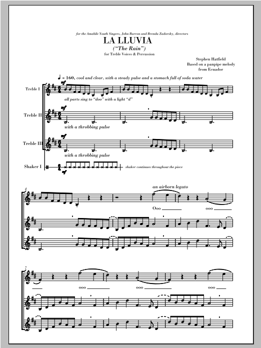 La Lluvia (The Rain) Sheet Music