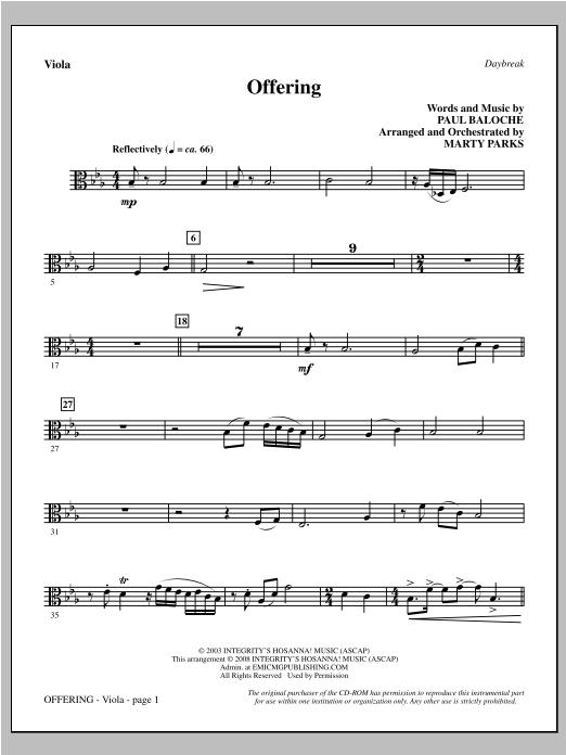 Offering - Viola Sheet Music