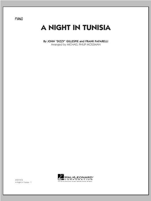 A Night In Tunisia - Piano Sheet Music