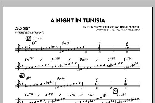 A Night In Tunisia - C Solo Sheet Sheet Music
