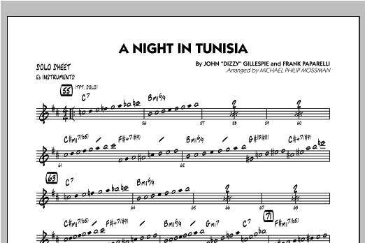 A Night In Tunisia - Eb Solo Sheet Sheet Music