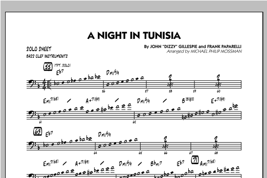A Night In Tunisia - Bass Clef Solo Sheet Sheet Music