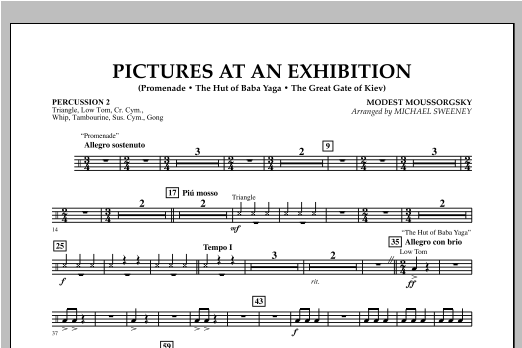 Pictures At An Exhibition (Excerpts) - Percussion 2 (Flex-Band)