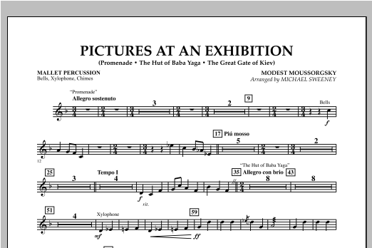 Pictures At An Exhibition (Excerpts) - Mallet Percussion (Concert Band)
