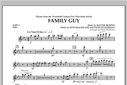 Family Guy (Theme) - Pt.1 - Flute Sheet Music