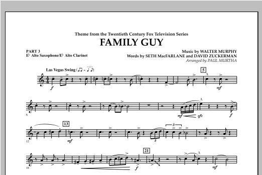 Family Guy (Theme) - Pt.3 - Eb Alto Sax/Alto Clar. Sheet Music