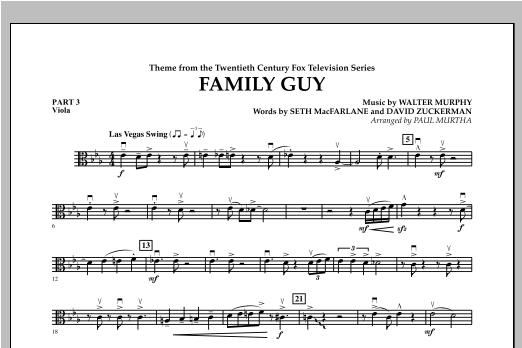 Family Guy (Theme) - Pt.3 - Viola Sheet Music