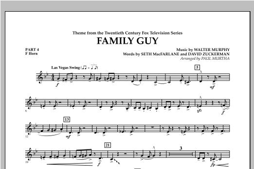 Family Guy (Theme) - Pt.4 - F Horn Sheet Music
