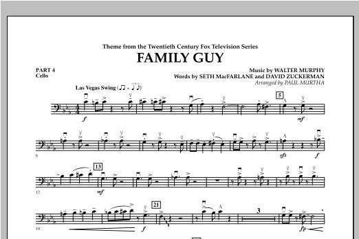 Family Guy (Theme) - Pt.4 - Cello Sheet Music