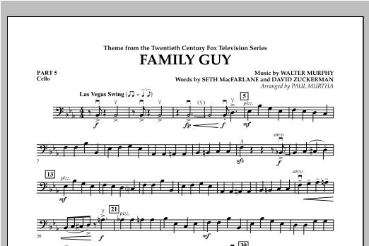 Family Guy (Theme) - Pt.5 - Cello Sheet Music