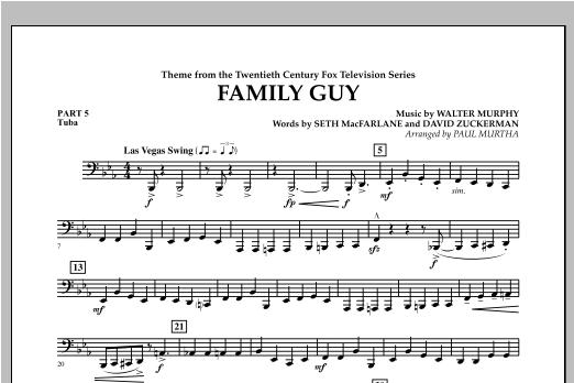 Family Guy (Theme) - Pt.5 - Tuba Sheet Music