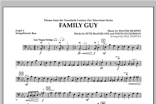 Family Guy (Theme) - Pt.5 - String/Electric Bass Sheet Music