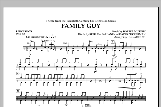 Family Guy (Theme) - Percussion Sheet Music