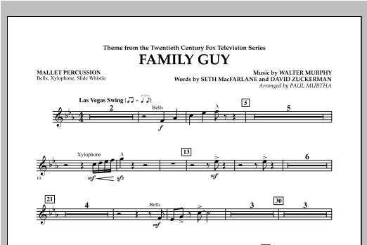 Family Guy (Theme) - Mallet Percussion Sheet Music