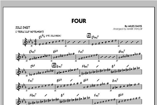 Four - C Solo Sheet (Jazz Ensemble)