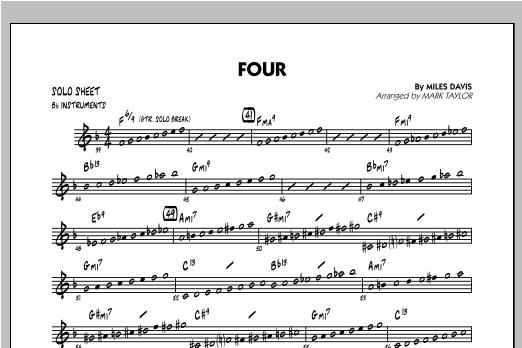 Four - Bb Solo Sheet Sheet Music
