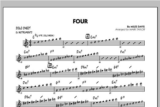 Four - Eb Solo Sheet Sheet Music