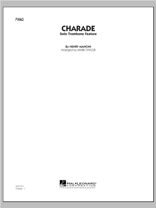 Charade (Solo Trombone Feature) - Piano Sheet Music