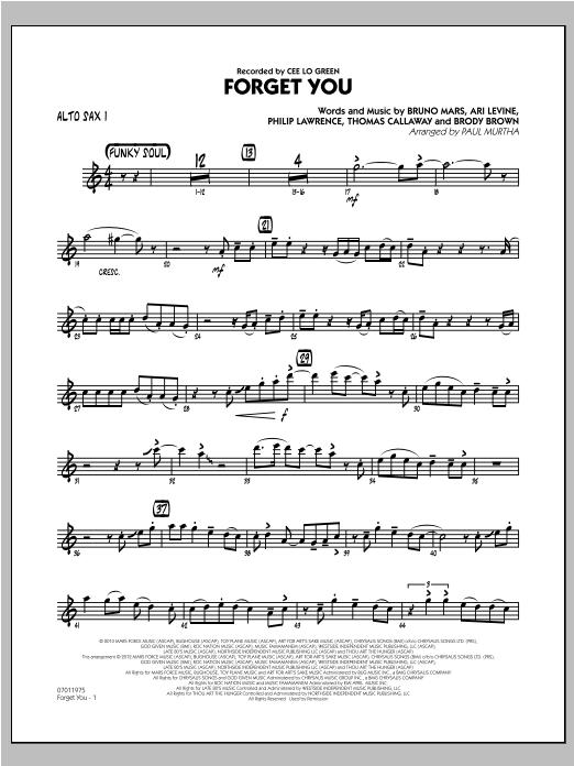 Forget You - Alto Sax 1 (Jazz Ensemble)