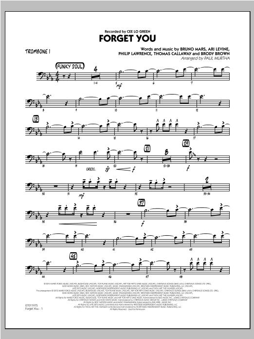 Forget You - Trombone 1 Sheet Music