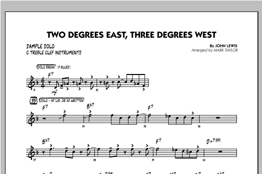 Two Degrees East, Three Degrees West - Sample Solo - C Instruments Sheet Music
