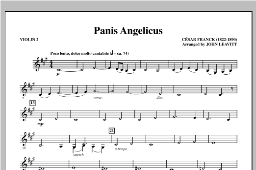 Panis Angelicus - Violin 2 Sheet Music