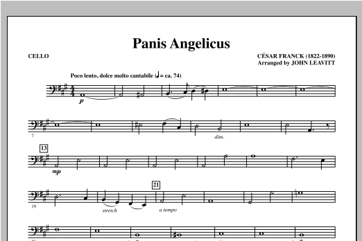 Panis Angelicus - Cello Sheet Music