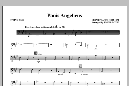Panis Angelicus - String Bass Sheet Music